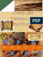 Linea del tiempo escritura (evolución del lenguaje escrito)