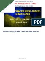 General Studies Mains Paper II—Part I--- Press Information Bureau- Pib Notes 2015