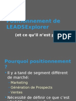 Positionnement LEADSExplorer Francais