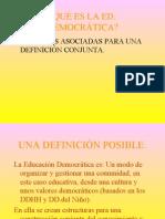 Educación democrática participación y convivencia