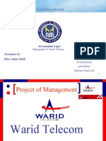 Managment project on Warid Telecom by usman pirzada