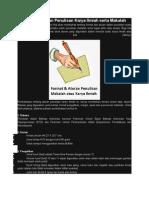Format Dan Aturan Penulisan Karya Ilmiah Serta Makalah