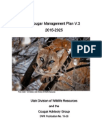 Utah Cougar Management Plan, v. 3, 2015-2025