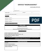 Ficha Inscripción Madrugadores 15 16