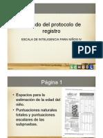 Llenado Del Protocolode Registro Del Wisc IV