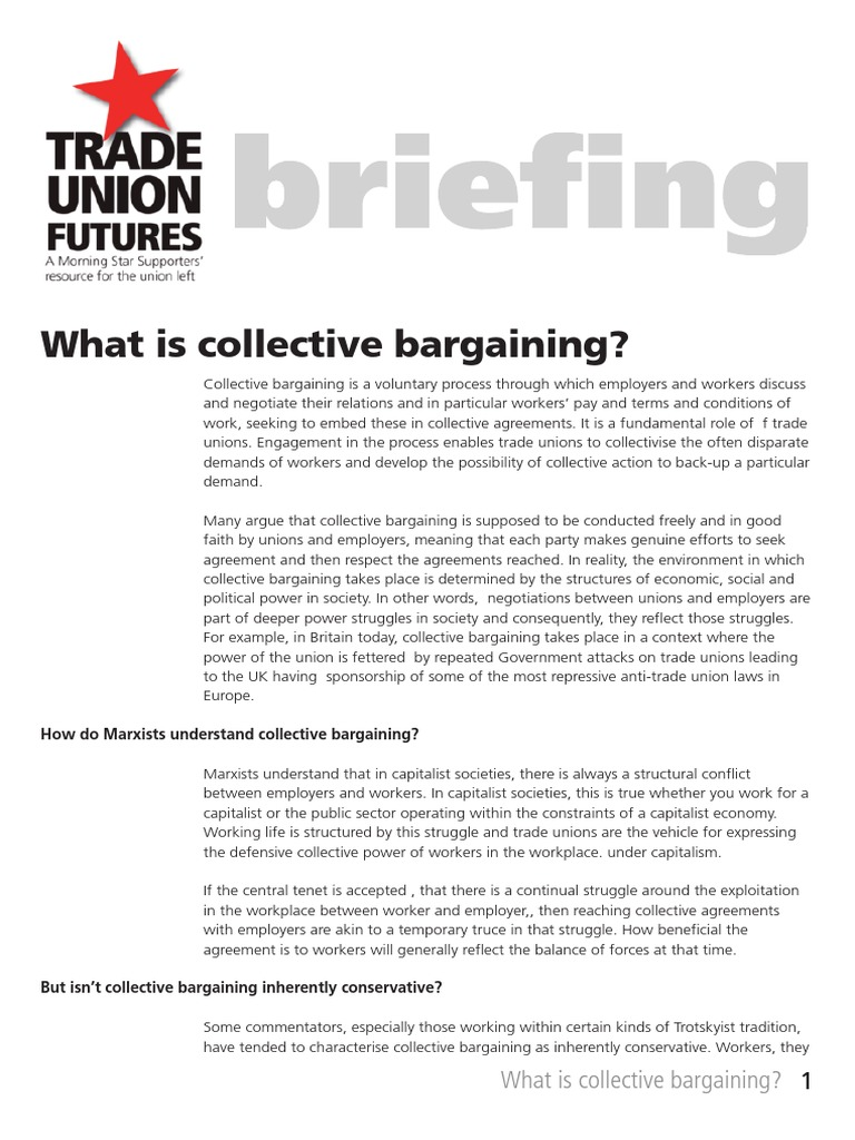 What Is Collective Bargaining Trade Union Collective Bargaining