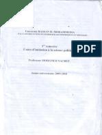 Cours Sciences Politiques S1 2009-2010
