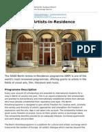 Deutschland Stipendium Musik Kunst en 0 Daad Berlin Artists in Residence Programme