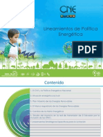Lineamientos Politica Energetica Cne