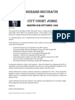 Letter to Primary Voters August 28-- Gerard DeCusatis City Court Judge