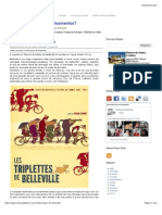 As Bicicletas de Belleville - resenha filmes