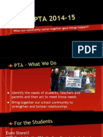pta works  summary of 2014-15