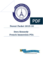 pta welcome packet 2015-16