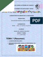 7. EDUCACION INCLUSIVA
