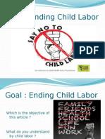 Goal child labor