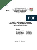 Trabajo Constitucional Poder Publico Municipal.