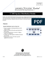 Channel Vision C-1001 Data Sheet