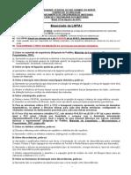 Ciência e Engenharia Dos Materiais 2015 2 - LISTA de EXERCÍCIOS I