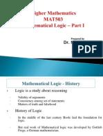 Mathematics logic fall sem part1