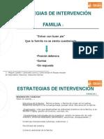 Estrategias intervención Familia