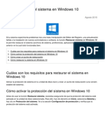 Como Restaurar El Sistema en Windows 10 23540 Ntpx98