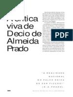 A Crítica Viva de Décio de Almeida Prado