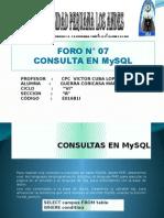 Foro - Consulta Mysql