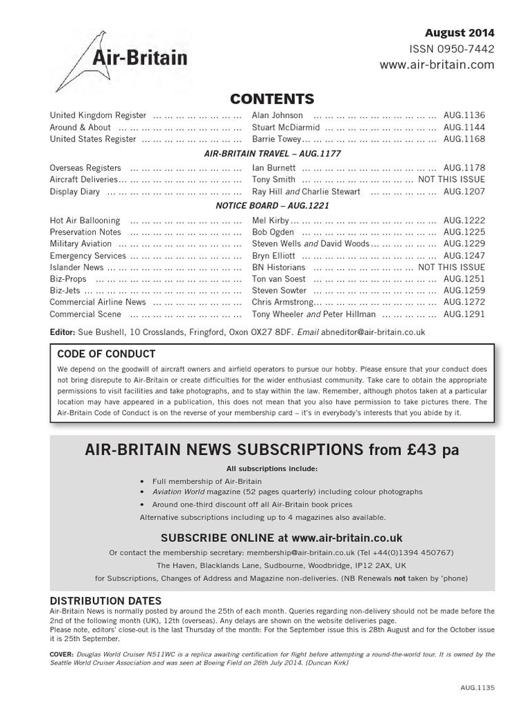 abnaug14 | Landing Gear | Aircraft Configurations