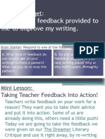 extended response actionable feedback