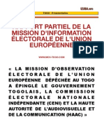 Rapport UE - Togo Elections