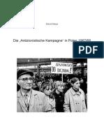 """Die """"Antizionistische Kampagne"""" in Polen 1967/68"""