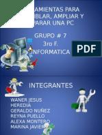 Trabajo de Informatica Herramientas Pc