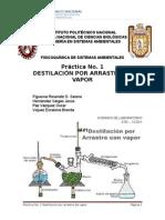 Práctica1. Destilación Por Arrastre de Vapor
