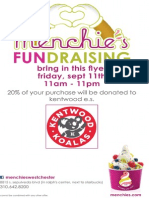 Menchies Fundraiser Kentwood