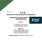 Instituto TecnolÓgico de Ensenada Ingenieria Industrial y