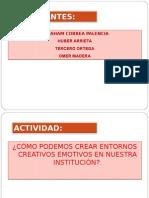 propuesta entornos creativos