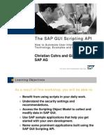 The Scripting API Sapgui