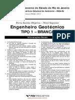 FGV 2013 INEA-RJ Eng Civil Geotecnico FGV 2013