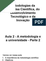 Aula 2 - Metodologias