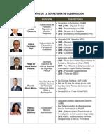 Nombramientos de la Secretaría de Gobernación