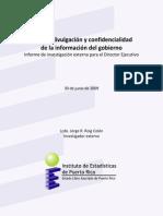 IEPR Informe Sobre Confidencialidad