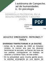 DESARROLLO PSICOSOCIAL EN LA ADULTEZ EMERGENTE Y ADULTEZ JOVEN.pptx