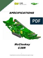 C38R Technical Spec
