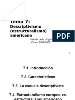 Tema 7 - Descriptivismo Americano Imprimir