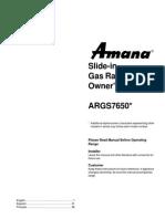 Amana Owner's Manual