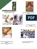Calendario Civico en Ingles de Honduras