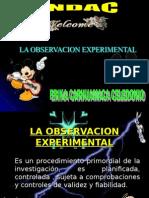 La Observa c i on Experimental