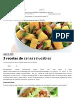 3 Recetas de Cenas Saludables _ InstaFit