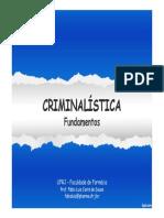 Aula 2 - Introdução à Criminalística