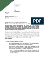 Memorandum for Prosecution